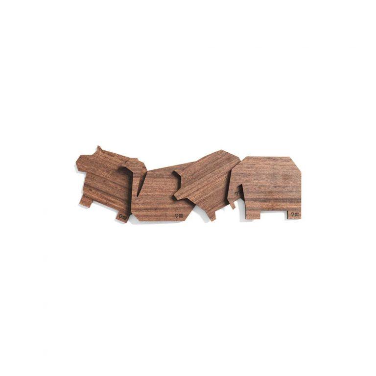 Podkładki drewniane zwierzatka_wyciete_orzech_Post